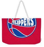 Los Angeles Clippers Vintage Basketball Art Weekender Tote Bag