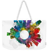 Los Angeles Small World Cityscape Skyline Abstract Weekender Tote Bag