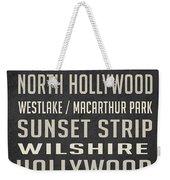 Los Angeles Vintage Places Poster Weekender Tote Bag