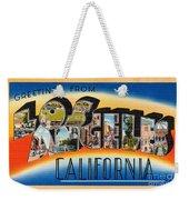 Los Angeles Vintage Travel Postcard Restored Weekender Tote Bag