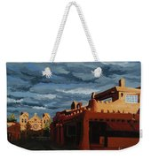 Los Farolitos,the Lanterns, Santa Fe, Nm Weekender Tote Bag