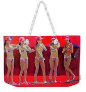 Lotion In Red Weekender Tote Bag