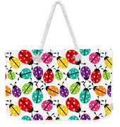 Lots Of Crayon Colored Ladybugs Weekender Tote Bag