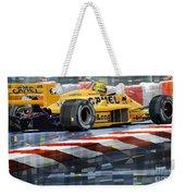 Lotus 99t 1987 Ayrton Senna Weekender Tote Bag