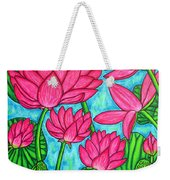 Lotus Bliss Weekender Tote Bag