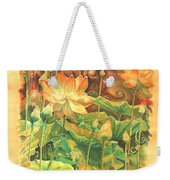 Lotus Field Weekender Tote Bag