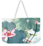 Lotus Figure Weekender Tote Bag