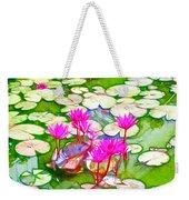 Lotus Flower 3 Weekender Tote Bag