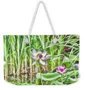 Lotus Flower On The Water Weekender Tote Bag