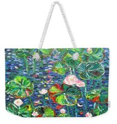 Lotus Flower Water Lily Lily Pads Painting Weekender Tote Bag