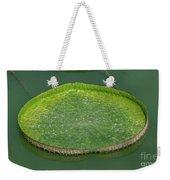 Lotus Leaf In The Marsh Weekender Tote Bag