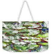 Lotus Leaves Weekender Tote Bag
