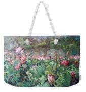 Lotus Pond-3 Weekender Tote Bag