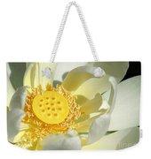 Lotus Up Close Weekender Tote Bag