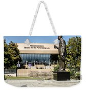 Louis Armstrong Bronze - Mahalla Jackson Theater - New Orleans Weekender Tote Bag