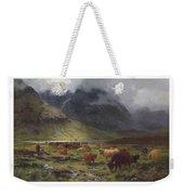 Louis Bosworth Hurt 1856-1929 Highland Cattle In A Glen Weekender Tote Bag