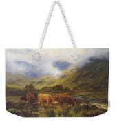 Louis Bosworth Hurt British 1856 - 1929 Highland Cattle Weekender Tote Bag