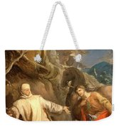 Louis Galloche - Saint Martin Sharing His Coat With A Beggar Weekender Tote Bag