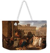 Louis Lafitte - Brutus Listening To The Ambassadors From The Tarquins Weekender Tote Bag