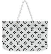 Louis Vuitton Pattern Lv 07 Grey Weekender Tote Bag