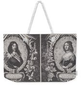 Louis Xiii And Anna D'austriche Weekender Tote Bag