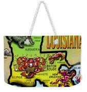 Louisiana Cartoon Map Weekender Tote Bag