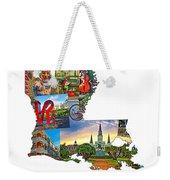 Louisiana Map - New Orleans Weekender Tote Bag