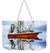Louisiana Shrimp Boat 4 - Impasto Weekender Tote Bag