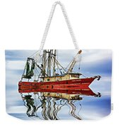 Louisiana Shrimp Boat 4 - Paint Weekender Tote Bag