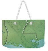 Louisiana State Usa 3d Render Topographic Map Border Weekender Tote Bag