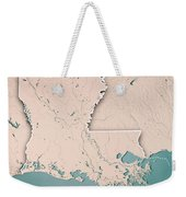 Louisiana State Usa 3d Render Topographic Map Neutral Border Weekender Tote Bag