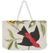 Louisiana Tanager Or Scarlet Tanager  Weekender Tote Bag