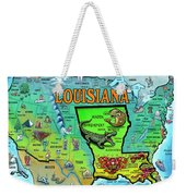 Louisiana Usa Cartoon Map Weekender Tote Bag