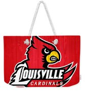 Louisville Cardinals Barn Door Weekender Tote Bag