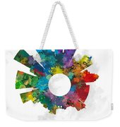 Louisville Small World Cityscape Skyline Abstract Weekender Tote Bag