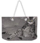 Lounge Cat Weekender Tote Bag