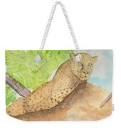 Lounging Leopard Weekender Tote Bag