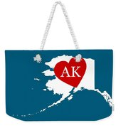Love Alaska White Weekender Tote Bag