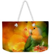 Love Among The Hibiscus Weekender Tote Bag