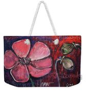 Love And Live With Purpose Poppies Weekender Tote Bag