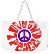 Love And Peace 14 Weekender Tote Bag