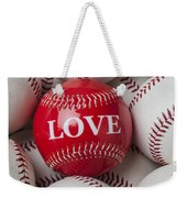 Love Baseball Weekender Tote Bag