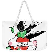 Love Bird Tattoo Weekender Tote Bag