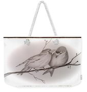 Love Birds Weekender Tote Bag by Ginny Youngblood