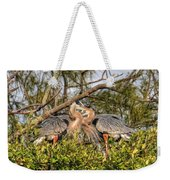 Love Birds - Great Blue Heron Weekender Tote Bag