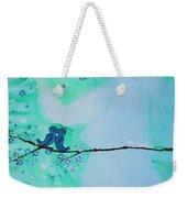 Love Birds In Blue Maternity Weekender Tote Bag