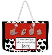 Love - Bw Graphic Weekender Tote Bag