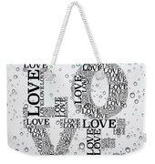 Love Droplets Weekender Tote Bag