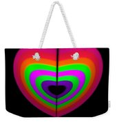 Love Heart Weekender Tote Bag