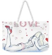 Love Hearts - Valentine's Day Weekender Tote Bag